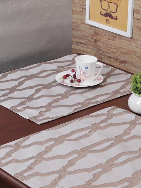 RANGRAGE Set of 6 White Handcrafted Table Placemats