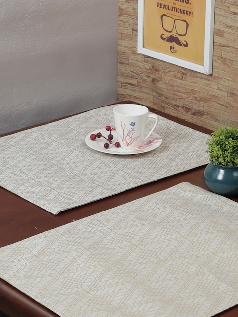 RANGRAGE Set of 6 Cream Handcrafted Table Placemats