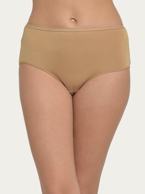 Clovia Women Nude-Coloured Hipster Briefs PN2787P24XL