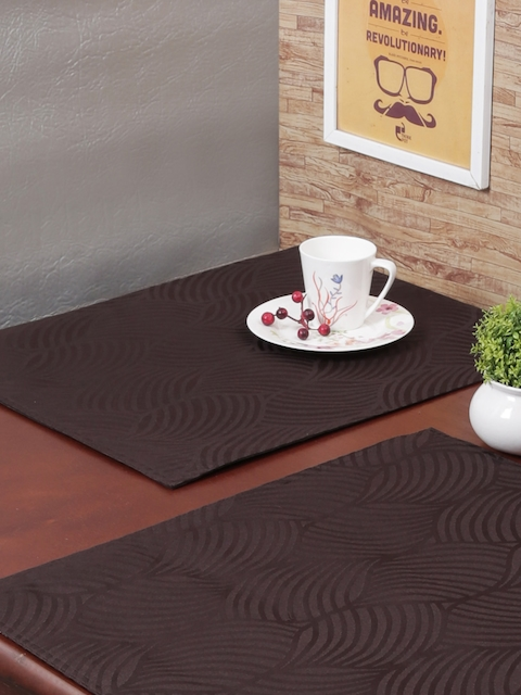 RANGRAGE Set of 6 Brown Handcrafted Table Placemats