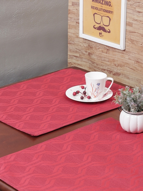 RANGRAGE Set of 6 Peach Handcrafted Table Placemats