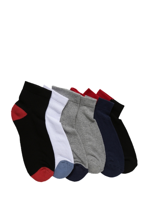 Levis Men Pack of 6 Multicoloured Assorted Ankle-Length Socks