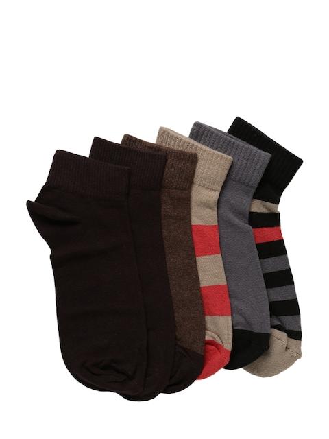 Levis Men Pack of 6 Assorted Ankle-Length Socks