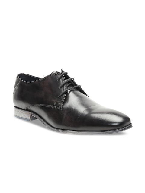 Bugatti Men Grey Leather Formal Derbys