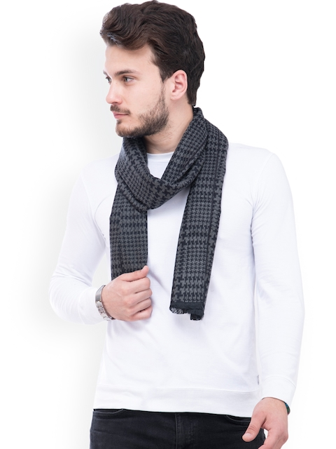 Tossido Men Grey Self-Design Muffler