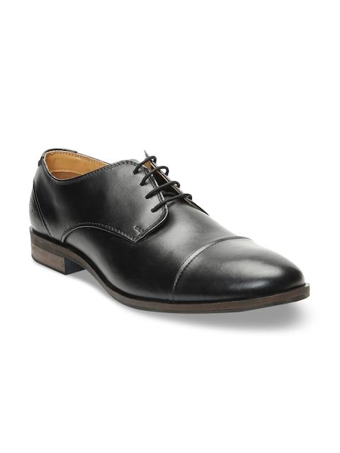 Bugatti Men Black Leather Formal Derbys