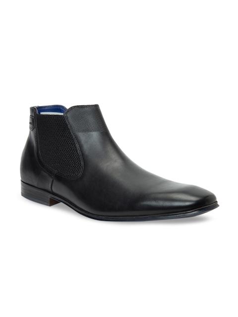 Bugatti Men Black Leather Semiformal Boots