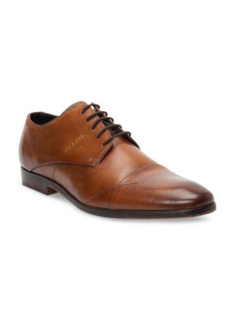 Bugatti Men Brown Leather Formal Derbys
