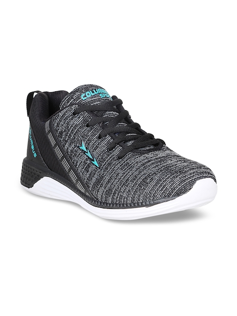 Columbus Men Black Running Shoes