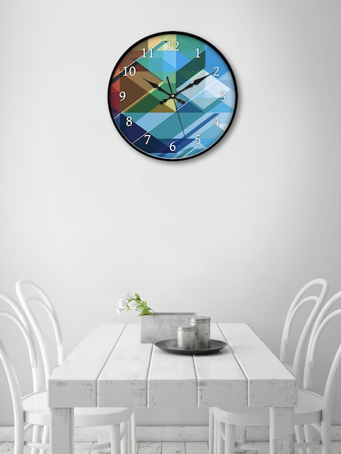 999Store Multicoloured Round Colourblocked 45.7 cm Analogue Wall Clock