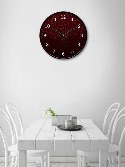 999Store Brown Round Printed 45.7 cm Analogue Wall Clock