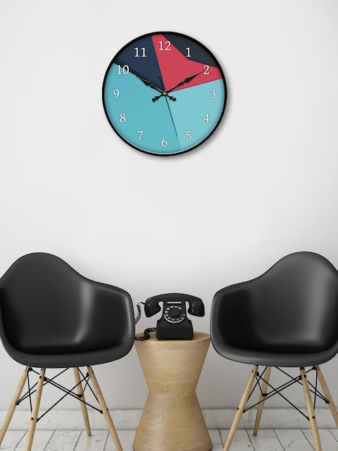 999Store Multicoloured Round Printed Analogue Wall Clock