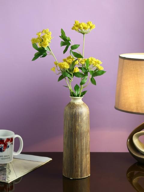 Aapno Rajasthan Brown Ceramic Flower Vase