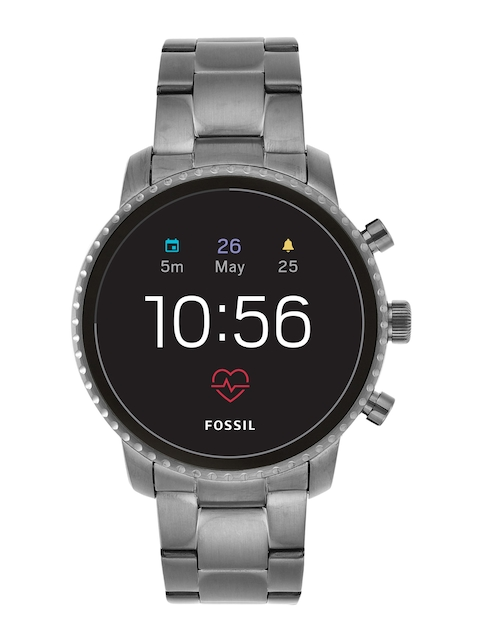 Fossil Q Explorist HR Gunmetal Smart Watch FTW4012