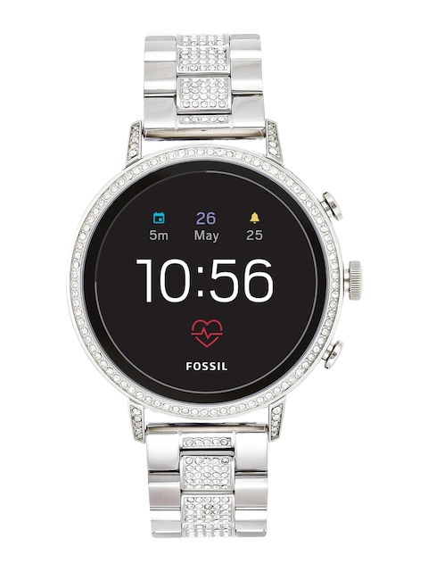 Fossil Q Venture HR Silver Smart Watch FTW6013