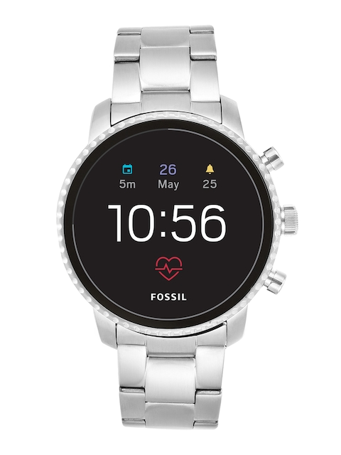 Fossil Q Explorist HR Silver Smart Watch FTW4011