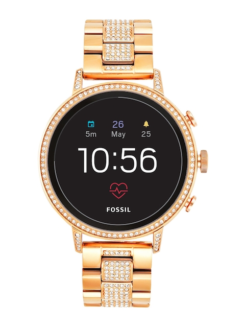 Fossil Q Venture HR Rose Gold Smart Watch FTW6011