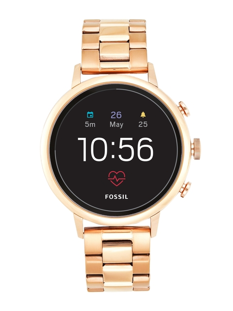 Fossil Q Venture HR Rose Gold Smart Watch FTW6018