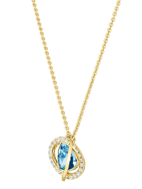 SWAROVSKI Gold-Plated Blue Jewellery Set