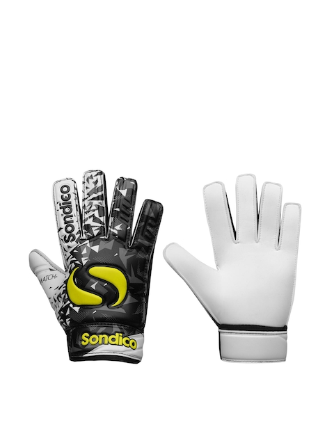 Sondico Unisex Kids Black & White Goalkeeper Match Gloves