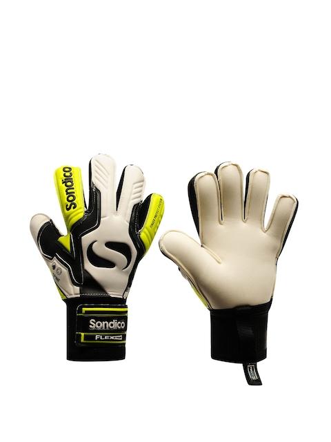 Sondico Men White & Yellow Goalkeeper Match Gloves
