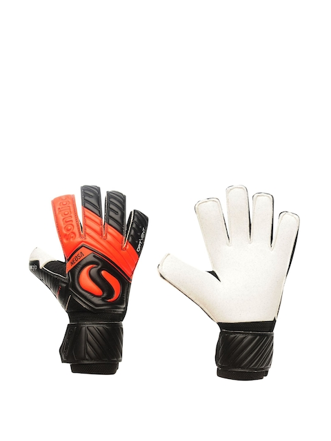 Sondico Men Black & Red Goalkeeper Match Gloves
