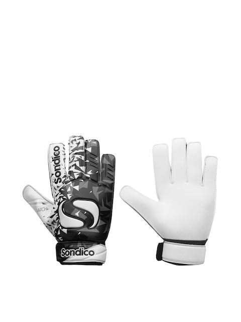 Sondico Men Black & White Goalkeeper Match Gloves