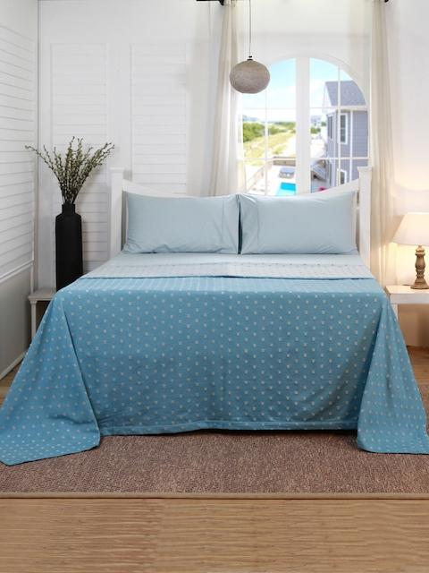 MASPAR Blue Double Bed Cover