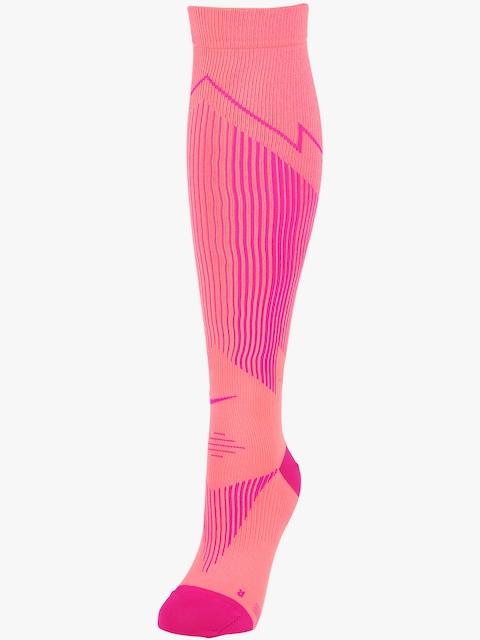 Nike Men Pink Elite Run Hyp Ltwt Comp Socks