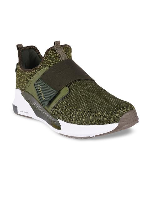 Campus Men Optimus Olive Green Slip-On Sneakers