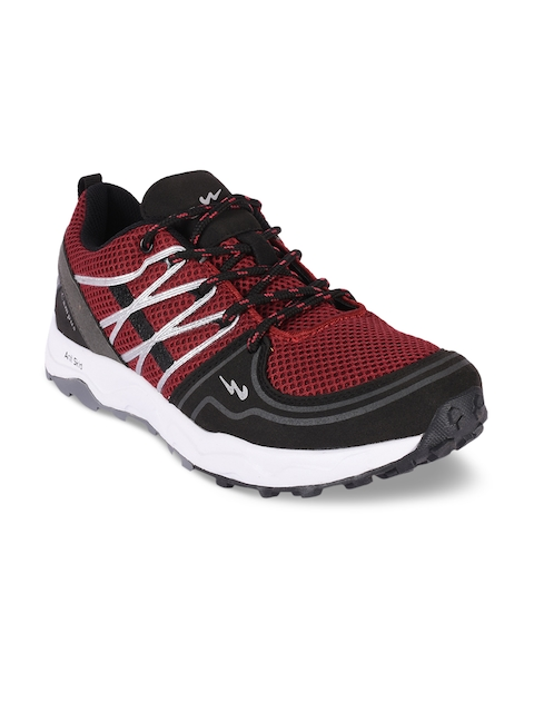 Campus Men Black & Rust Red Running Shoes