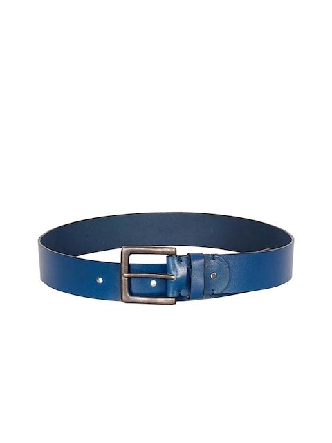 Justanned Men Blue Solid Belt