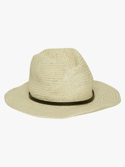 Cream Solid Hat