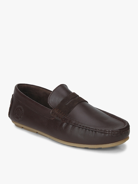 U.S. Polo Assn. Men Genuine Brown Solid Loafers