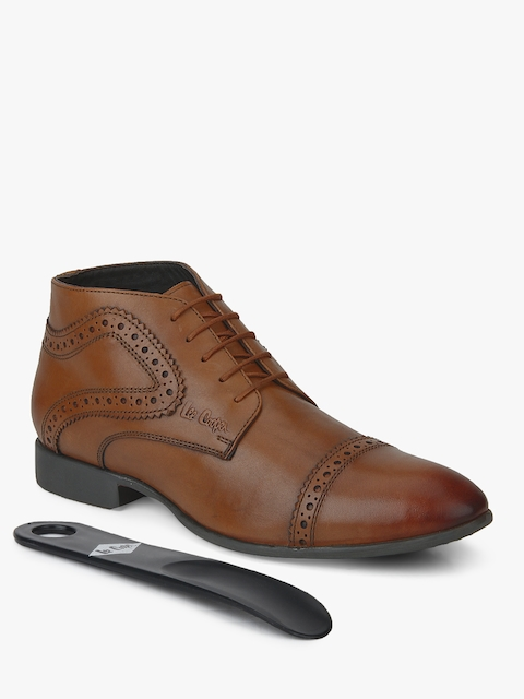 Tan Derby Brogue Boots