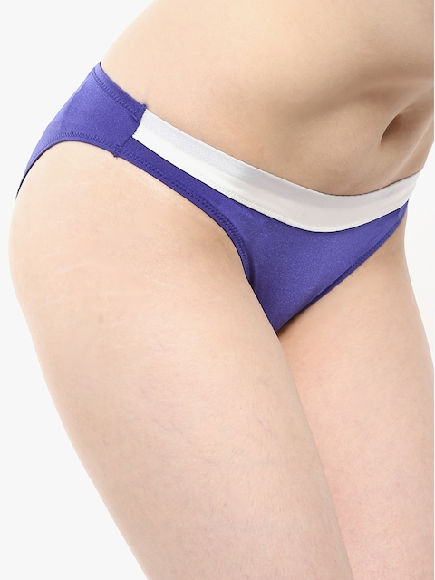 Blue Solid Panty