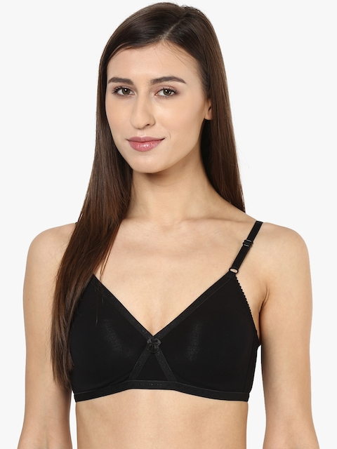 Black Solid Bra