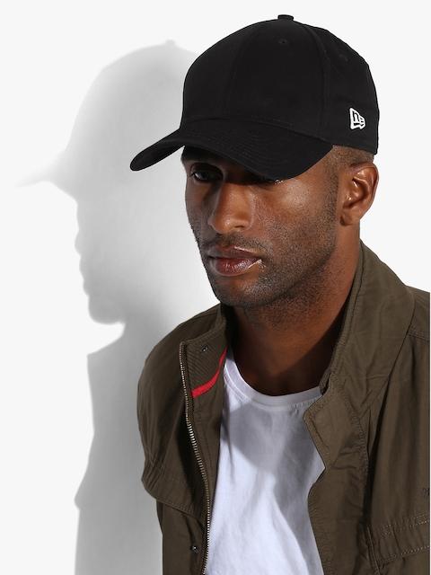 NEW ERA Men Black Solid Baseball Cap