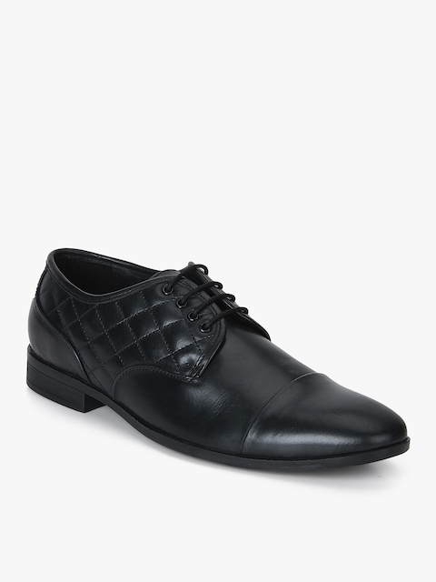 Fortune Black Derby Formal Shoes