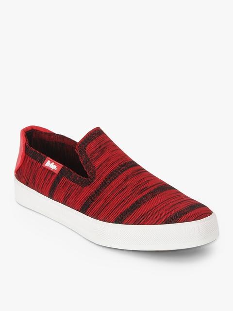Lee Cooper Men Red Striped Loafers