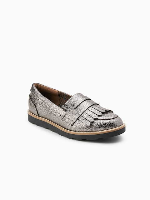 next Girls Metallic Loafers