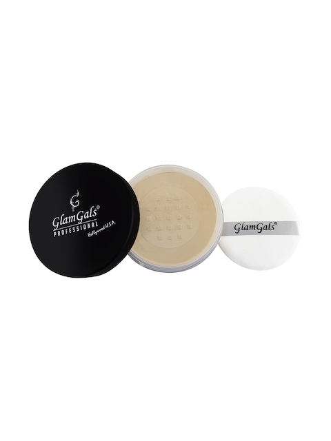 GlamGals Women Beige Loose Powder Compact 30 g