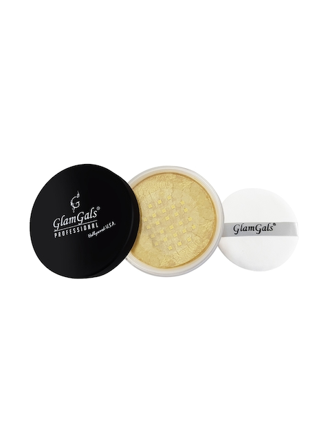GlamGals Women Gold-Toned Loose Powder Compact 30 g