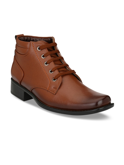 Mactree Men Tan Brown Formal Synthetic Leather Derbys
