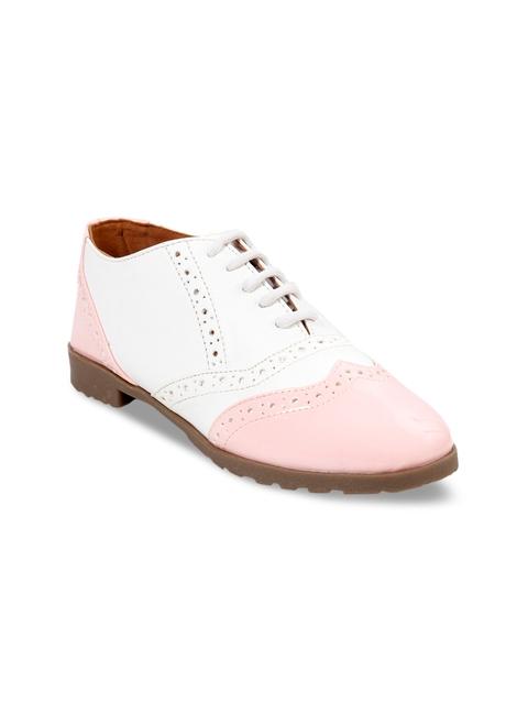 meriggiare Women Pink & White Formal Brogues