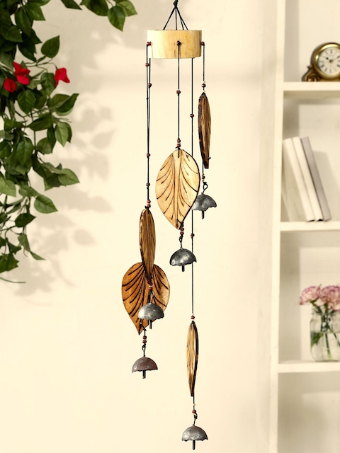 Unravel India Brown Bamboo Petal Windchime