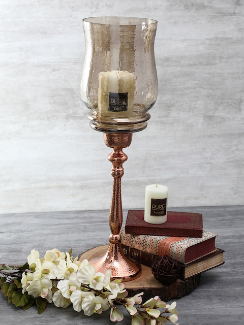 Pure Home and Living Copper-Toned Candle Holder