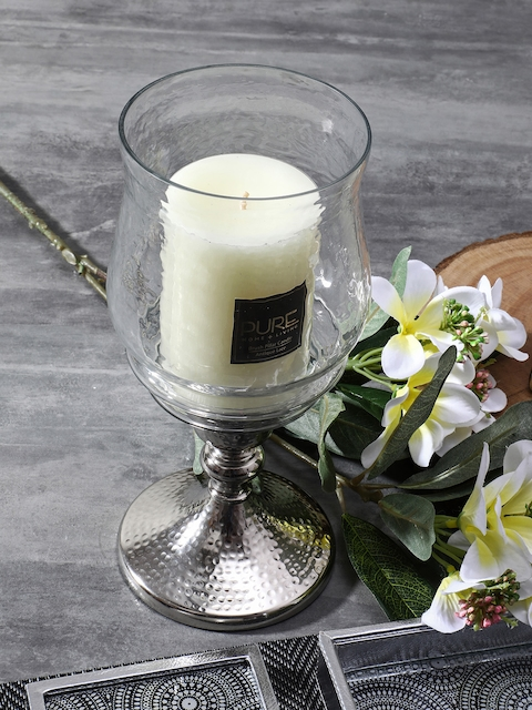 Pure Home and Living Silver-Toned Candle Holder