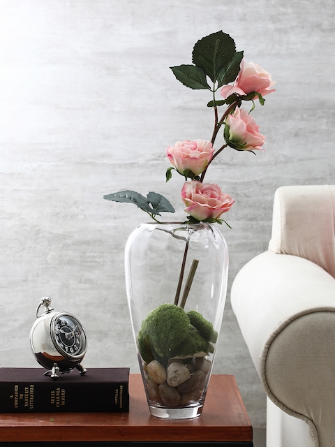 Pure Home and Living Transparent Glass Flower Vase