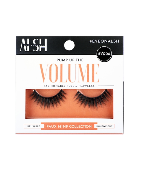 ALSH Women Black Volume Premium 3D Faux Mink Lashes V006